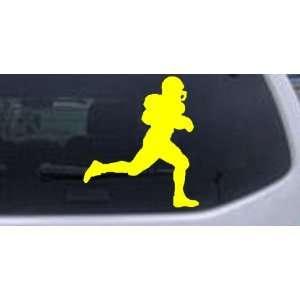Yellow 14in X 12.3in    Football Player Running Sports Car Window Wall