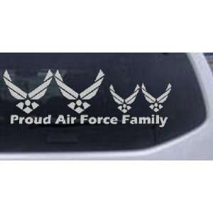 Proud Air Force Stick Family 2 Kids Stick Family Car Window Wall
