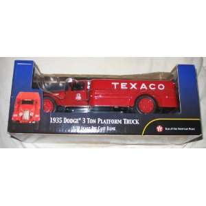 1935 dodge 3 ton platform truck 1:38 scale die cast bank
