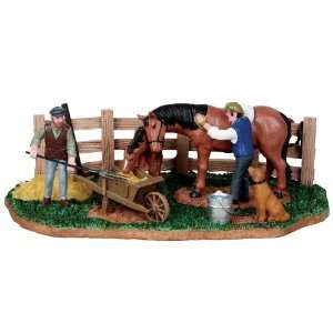 Village Collection Stable Chores Table Piece #13900