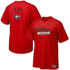 Nike Georgia Bulldogs Red Team Issue T shirt Sports