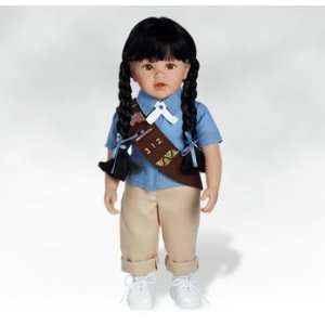 18 inch Doll, Asian Doll, Olivia Girl Scout Brownie Doll