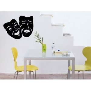 Comedy Tragedy Theater Mask Art Wall Decal Sticker Home