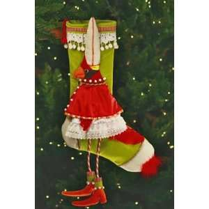 Krinkles CARDINAL STOCKING Patience Brewster Home