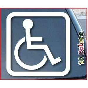 Handicap Sign Car Window Vinyl Decal Sticker 6 Wide