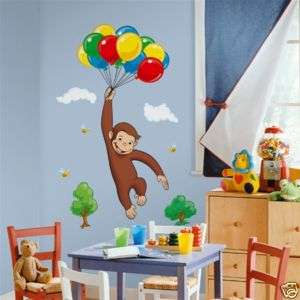 Curious George Monkey Wall Stickers Decals Nursery