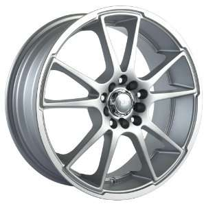 18x7.5 Akita AK 35 (435) (Hyper Silver w/ Machined Lip) Wheels/Rims