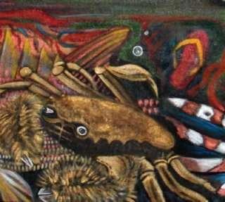 Fish Painting Ocean Wildlife Art Seascape Fine Art 30x40 Gallery