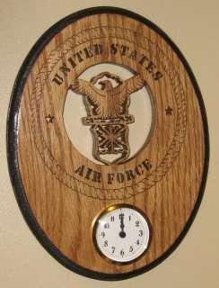 Custom Handmade Air Force Wall Clock Wooden Gift