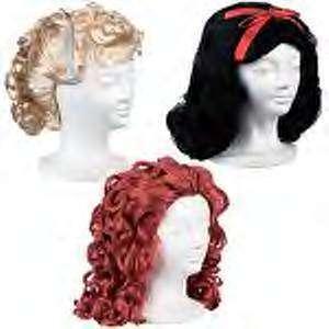 Girls Wig Ariel,Snow White,Cinderella New