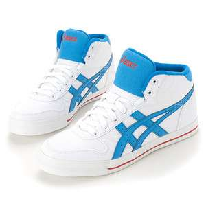 Brand New ASICS AARON MT CV Shoes White,Blue H009N 0141 #35A