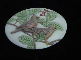 BIRDS PLAQUE Chocolate Candy Soap Mold NEW RELEASE