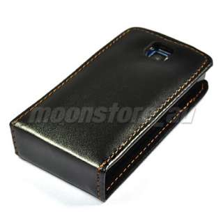 FLIP LEATHER CASE COVER POUCH FILM FOR NOKIA 5250 BLACK