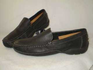 mens St Johns Bay leather Driving Moccasin black 9 M
