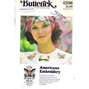 Butterick 4308 Embroidery Pattern Americana Embroidery