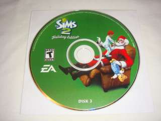Disc 3 ONLY for The Sims 2 Holiday Edition   PC Computer CD ROM game