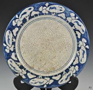 Antique Dedham Pottery Snow Tree Crackleware Plate
