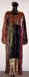 Threads Rayon Velvet Empire Waist Patch Hippie Boho Gypsy Dress 1X