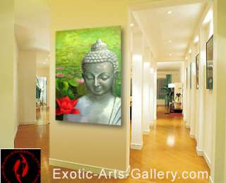 Feng Shui Painting , Buddha painting and Painted oil on canvas