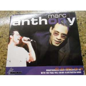 : Marc Anthony Headliners Unauthorized Audio Documentary Cd and Book