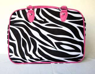 16 Pet Carrier/Luggage Dog/Cat Travel Bag Pink Zebra