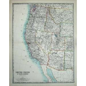 Johnston Atlas 1905 United States North America Map Home & Kitchen
