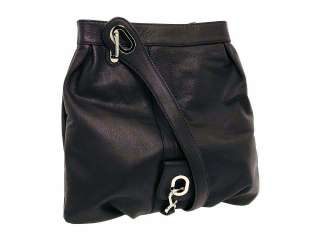 New Gustto $450 Milano Messenger Shoulder Crossbody Bag Tote Black