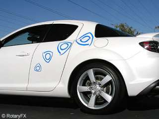 FAST ROTORS RX 8 Body Graphics RX8 Vinyl Decal Stickers