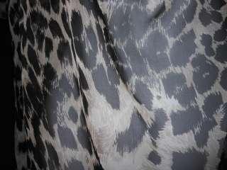 225 NWT Haute Hippie Cowl Front Blouse Animal Print Chocolate Multi