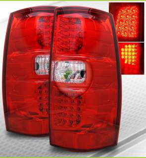 Suburban/Tahoe/Yukon/Denali LED Red Clear Tail Lights