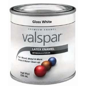 Valspar 410 65000 HP Half Pint White Gloss Latex Enamel
