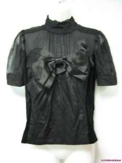JON Velvet & Silk Bow Shirt Size 6 NWOT $308