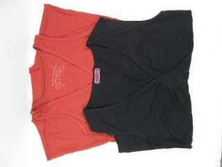 LOT 2 STUART & BROWN VELVET Red Black Tank Shirt XS Sm