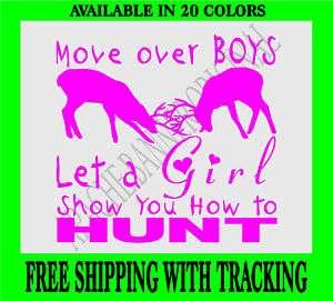 DEER HUNTING Decal Girls Buck Girl Decal Elk Doe 1780