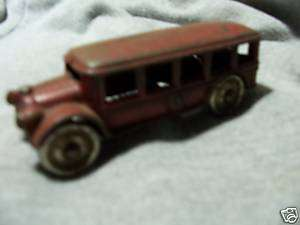 Arcade Cast Iron Bus   Chrome Steel Wheels   5