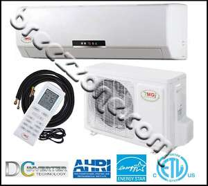 DUCTLESS MINI SPLIT HEAT PUMP 18 SEER 18000 BTU 1.5 TON,25FT INS.KIT