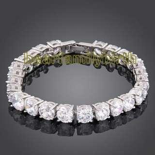 18K gold GP swarovski crystal fashion bracelet 361