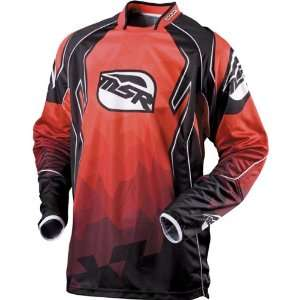 MSR Racing NXT Reflect Mens MotoX Motorcycle Jersey   Black/Red