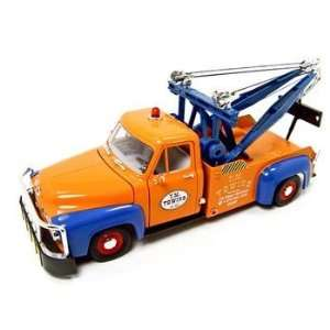 1953 FORD F 100 TOW TRUCK WRECKER ORANGE 118 DIECAST