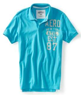 Aeropostale mens Aero New York mens polo shirt  Style 2242