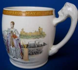 1937 Thomas Goode   King Edward VIII Coronation Lion Handle Mug