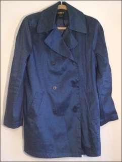 Navy Blue Rain Coat Womens 6 By Georgiou Studio Fully Lined Jacket