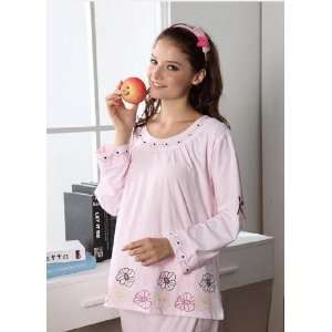 High Quality Womens Pure Cotton Nightwear With Flower