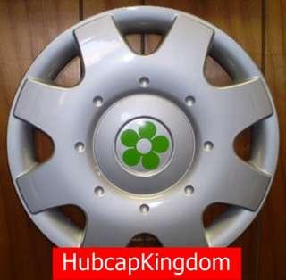 1998 2009 VW BEETLE 16 GREEN DAISY FLOWER Hubcap SET