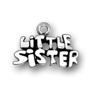 Sterling Silver Little Sister Charm Arts, Crafts & Sewing