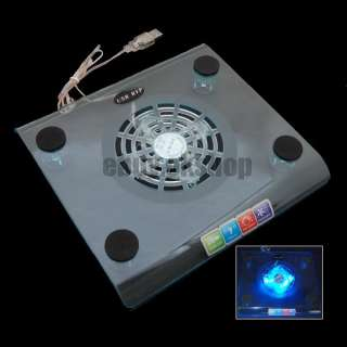 Blue LED PC Fan USB Notebook Cooling Cooler Pad Laptop