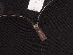 165 POLO RALPH LAUREN BLACK MERINO WOOL SWEATER 6XB
