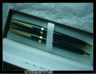 CROSS GREEN LACQUER & 23K Gold Pen Pencil + Bonus