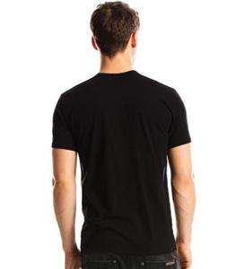 Authentic NWT Armani Exchange AX Men Beaded Tee T Shirt Top Black