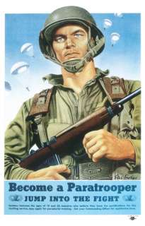 WWII US Army Airborne Paratrooper Recruiting Poster